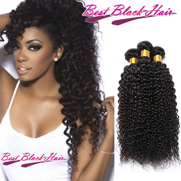 8 Inch 30 Inch Curly 100 Malaysian Remy Hair Weave Natural Black